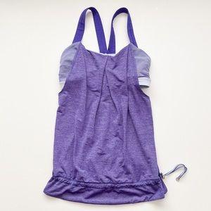 Lululemon purple drapey tank